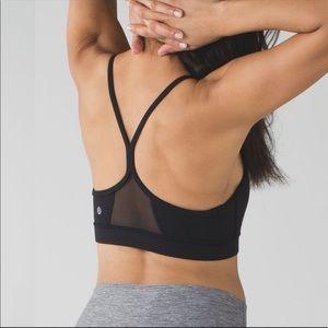 Lululemon Flow Y bra sheer panel sports bra padded